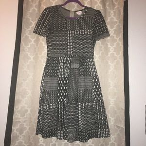 LulaRoe Amelia Dress B/W